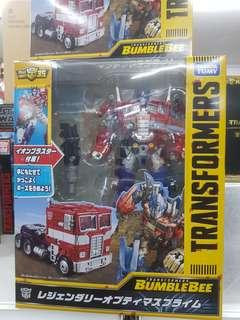 Transformers takaratomy bumblebee movie legendary leader class optimus prime misb in stock