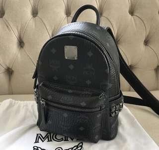 Authentic MCM mini backpack black