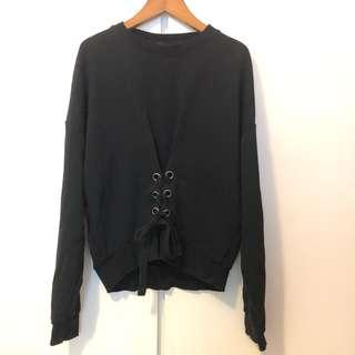 Cotton on lace up sweater