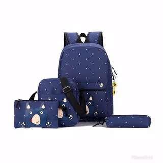 Tas ransel backpack set 4 in 1 muspan