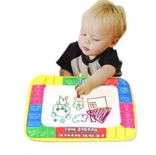 🚚 BN Baby Kids Drawing Painting Writing Mat Board & Magic Pen Doodle Toy