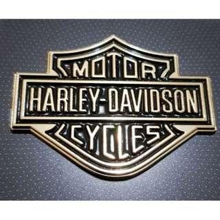 Emblem Gold Small Metal Harley Logo.56x45