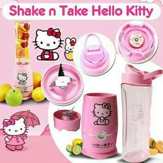 *FREE DELIVERY to WM only / Ready stock* Designed cartoon shake blender set each as shown design hello kitty, doraemon, mickey / color.  Free delivery applied for this item.