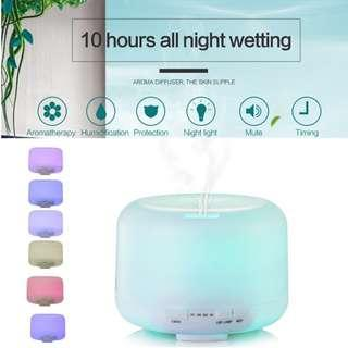 Malaysia Plug Aroma Diffuser Air Humidifier 500ML 7Colors Light Aromatherapy Timer MUJI