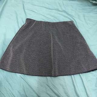Zara 灰色短裙 grey mini skirt