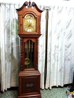 💥Gorgeous German-made Moon phase Grandfather Clock with Solid Rosewood Casing