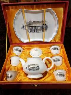 Chinese vintage teaset teapot tray teacups new in ori box