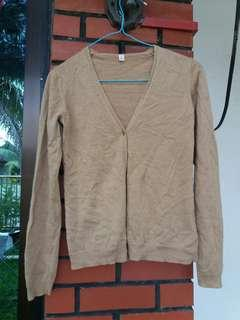 Uniqlo Brown Knitted Cardigan