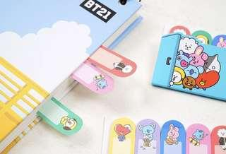 [PO] BT21 x StudioEight Sticky Note, Index Marker, Memo Pad, Post its,
