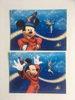 香港迪士尼🏰酒店明信片✨魔法師米奇Mickey