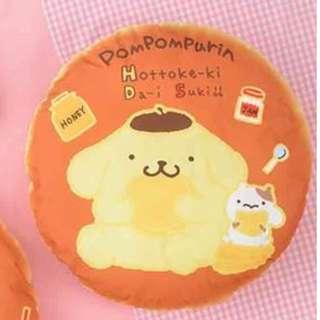 Sanrio Pompompurin Hotcake Cushion 布甸狗 咕o臣