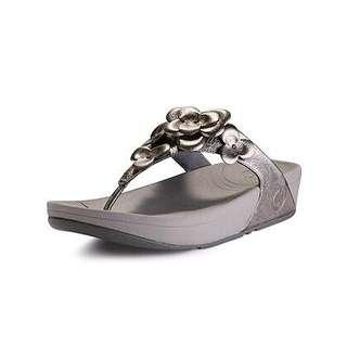 Clear Stock Fitflop Silver Flower Size 36 only
