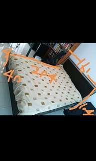 標準5呎雙人床連床褥