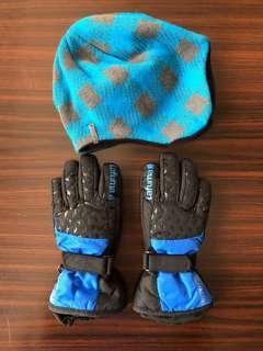Lafuma 滑雪手套 & knit hat