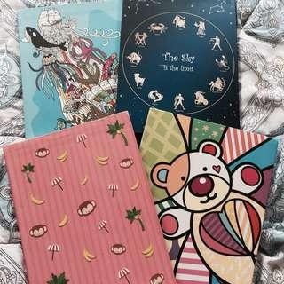 assorted notebooks clearance