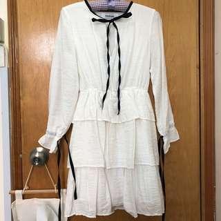 White one piece dress