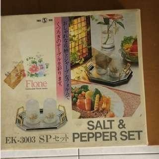 Salt & Pepper Bottles Tray Sets