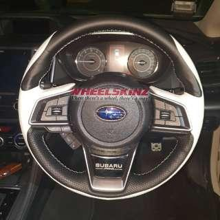 Subaru impreza steering wheel wrapping