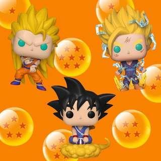 Pre order Super Saiyan 3 Goku/Super Saiyan 2 Gohan/Young Goku with flying nimbus