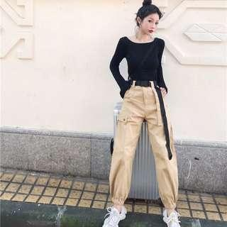 (2Col) Oversized Korean High Waist Sweatpants