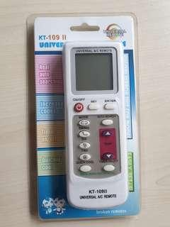 Universal air conditioning remote