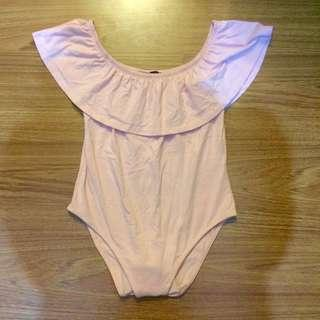 Off-shoulder body suit (high quality/never used)