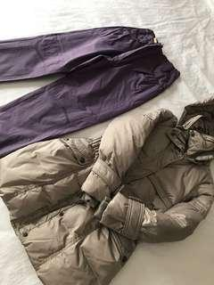 Winter jacket and long pants