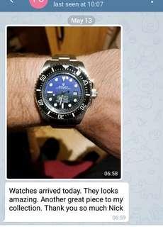 Customer Review Rolex Deepsea D blue