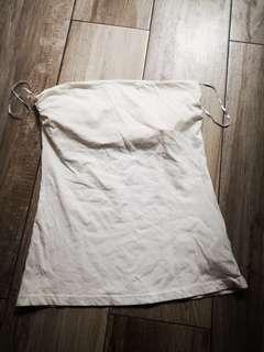 H&M cotton Top 純白色 37cm胸彈力