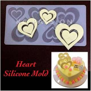 ❤️ HEART SILICONE MOLD [Valentine • Anniversary • Engagement • Wedding] Tool for Pastry • Chocolate • Fondant • Gum Paste • Candy Melts • Jelly • Gummies • Agar Agar • Ice • Resin • Polymer Clay Craft Art • Candle Wax • Soap Mold • Chalk • Crayon Mould •
