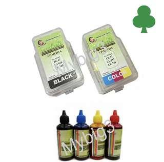 Colorprint canon pg745 & CL746 refill smart catridge (CISS) & ink (100ml X4)