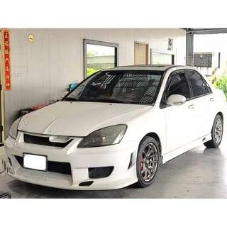 【FB搜尋新桃園阿承】三菱 超人氣GOBAL LANCER 2005年 1.6 白色 二手車 中古車