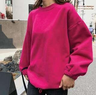 🚚 S5517韓版時尚慵懶風燈籠袖寬鬆抓絨衛衣(4色)