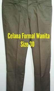 Celana Formal Wanita, Murah, Predoux, Size 30