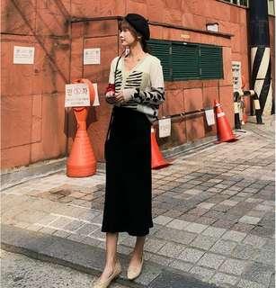 🚚 S5508韓版時尚 日系甜美撞色針織開衫外套