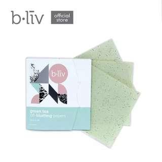 B.LIV BY CELLNIQUE Green Tea Oil-Blotting Papers #POST1111