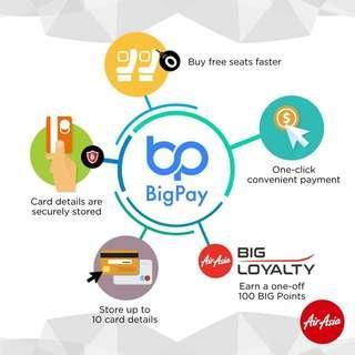 BigPay card FREE RM10