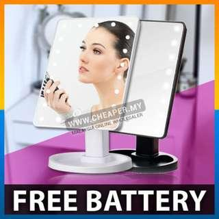 Touch Screen 16 LEDs Makeup Cosmetic Adjustable Mirror