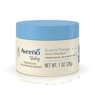 Aveeno Baby Eczema Therapy Nighttime Balm, with natural Colloidal Oatmeal and Dimethicone for Dry Skin and Baby Eczema Relief, 1 oz