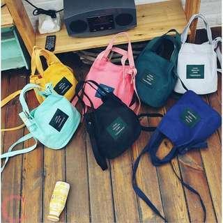 🔴2 for $11🔴Korean Canvas Tote Sling Bag