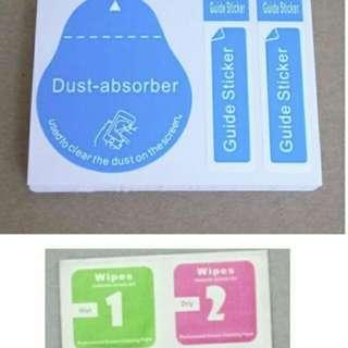 Screen Care (Alcohol Wipes Dust Absorber Guide Sticker