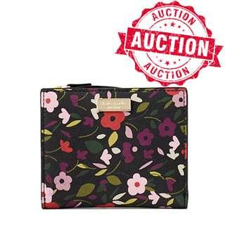 "Auction ""Like"" & ""Bid"" Authentic Brand New Kate Spade Laurel Way Small Wallet Floral Print From USA Seggusted Retail: $195"