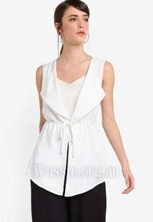 Zalora Waterfall Vest (White) XL
