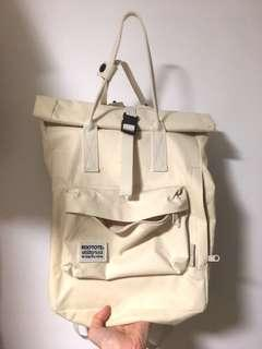 Rootote 米色帆布背包 背囊 手袋 backpack