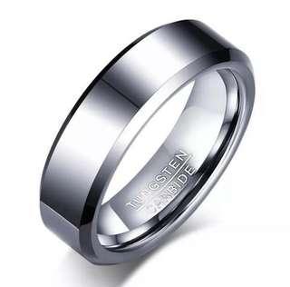 Tungsten Carbide Ring - Silver / Black