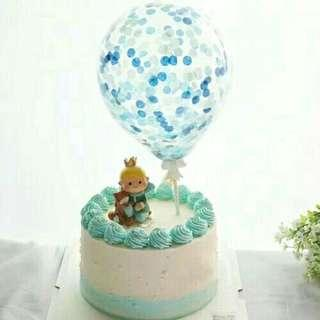 """*FREE DELIVERY to WM only / Ready stock* 5"""" confetti balloon cake topper without air as shown design / color.   Free delivery applied for this item."""