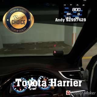 Toyota Harrier Lufi X1 Revolution OBD OBD2 Gauge Meter display