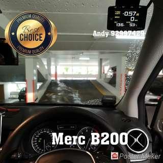 Merc B200 Lufi X1 Revolution OBD OBD2 Gauge Meter display