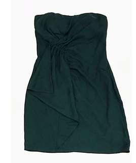 FOREVER 21 Cocktail Dress Dark Green (Size Small)