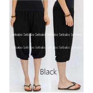 New Free Size Comfy Knee Pants B1 #S143 Black Colour